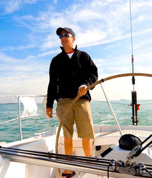sortie en mer en Bretagne avec skipper