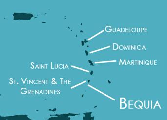 Iles des Grenadines en croisière