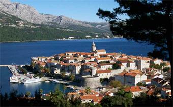 Ile de Korcula en Croatie