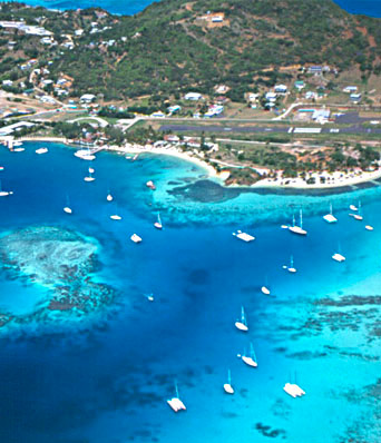 Mouillage_voilier_Union_Iles_Grenadines