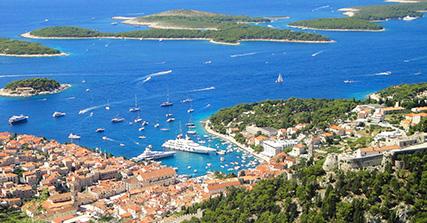 Port Hvar avec Ilots Pakleni