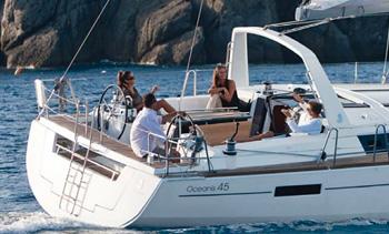 Vacances en voilier sur Oceanis 45 en famille