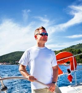 Skipper à Saint-Martin