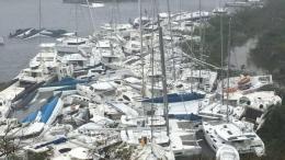 Flotte de bateaux après le cyclone