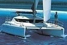 Catamaran Athéna 38 en navigation en mer Ionienne