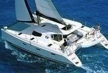 Catamaran Nautitech 40 sous voile en Grèce