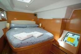 Cabine double du catamaran Lagoon 440 à Porto Colom
