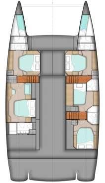 Plan catamaran Sanya 57 avec équipage