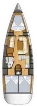 Plan voilier Sun Odyssey 39i