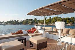 Bain de soleil cabine catamaran Martinique
