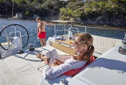 Bain de soleil voilier Sun Odyssey 440