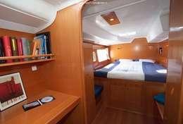 Cabine de couchage du catamaran