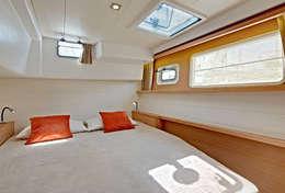Grande et lumineuse cabine du catamaran Lagoon 450