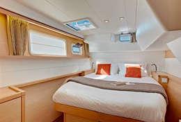 Très belle cabine pour le confortable Lagoon 450
