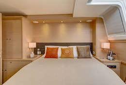 Grande cabine du catamaran Lagoon 620
