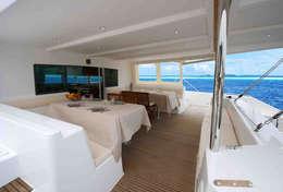 Cockpit extérieur du catamaran