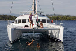 Catamaran Lagoon 380 avec enfants à bord