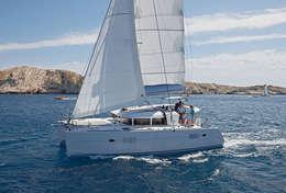 Lagoon 400 en navigation dans les Kornati