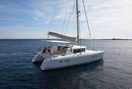 Traversée tranquille sur le catamaran