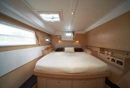 Grance cabine double du Lagoon 500 en Sicile
