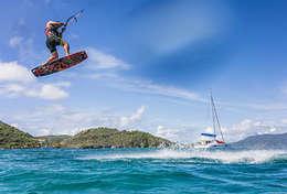 Croisière kite surf à bord du catamaran Léopard 444
