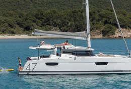 Catamaran Saona 47 mouillage