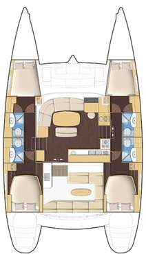 Plan catamaran Lagoon 440