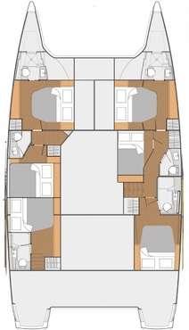 Plan catamaran Saba 50