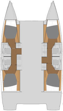Plan catamaran Astréa 42