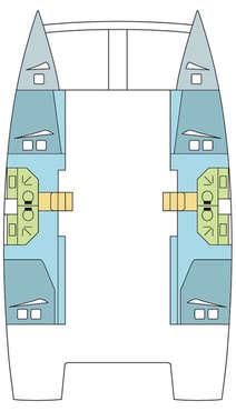 Plan catamaran Bali 4.3