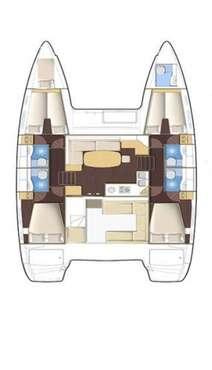 Plan catamaran Lagoon 400