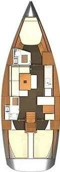 Plan voilier Dufour 405