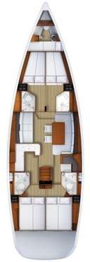 Plan voilier Jeanneau 53