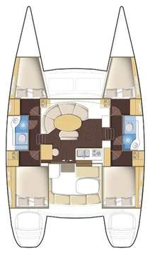 Plan catamaran Lagoon 380