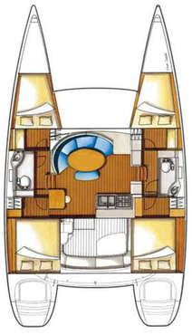 Plan catamaran Lagoon 380S2
