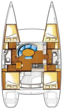 Plan catamaran Lagoon 380S2