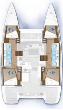 Plan Lagoon 40 4 cabines