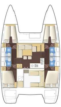 Plan catamaran Lagoon 400 S2