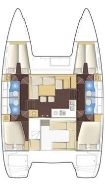 Plan catamaran Lagoon 400