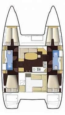 Plan Lagoon 400 en Corse