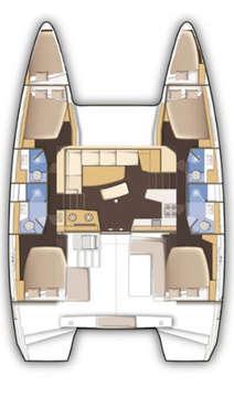 Plan catamaran lagoon 42