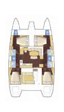 Plan catamaran Lagoon 421