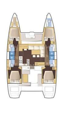 Plan Lagoon 450 avec une pointe