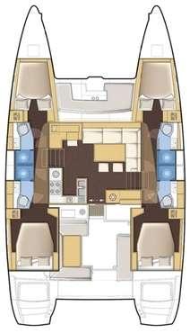 Plan catamaran Lagoon 450