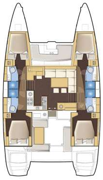 Plan catamaran lagoon 450