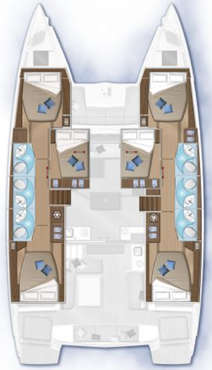 Plan catamaran Lagoon 50