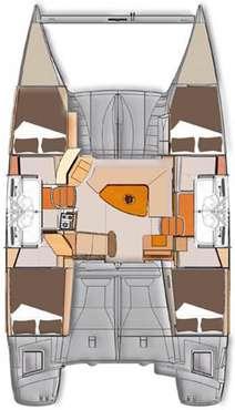 Plan catamaran lipari 41