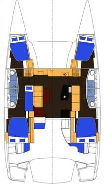 Plan catamaran Salina 48