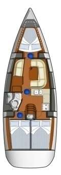 Plan voilier Sun Odyssey 36i à Propriano