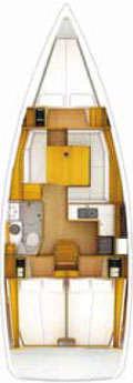 Plan voilier Sun Odyssey 379